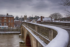 Snow on the Bridge (Philip Moore Photography) Tags: bridge bewdley worcestershire england snow winter riversevern church architecture historic