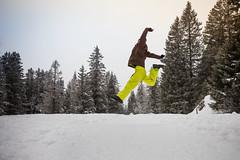 Enjoying snow (Zeeyolq Photography) Tags: france jump tree winterholidays alps mountains sauter alpes happy snow chamrousse auvergnerhônealpes