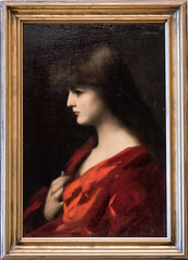 Study of a Woman in Red by Jean-Jacques Henner. (Svetla (ribonka 78)) Tags: museum stpetersburg russia painting europe masterpiece