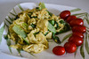 VeganEgg with Baby Bok Choy, and Grape Tomatoes (Vegan) (Vegan Butterfly) Tags: vegetarian vegan food yummy tasty delicious earth island follow your heart veganegg egg eggless scrambled eggs baby bok choy veggies vegetables grape tomatoes red breakfast meal