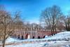 Gothic bridge in the melting snow (Varvara_R) Tags: moscow russia history historical heritage tsar architecture tsaritsyno spring sunshine bridge gothicbridge sunny weather springtime bluesky clearsky redbrick travel explore snow park