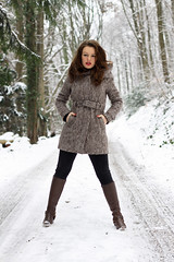 Ana-Laura 38 (The Booted Cat) Tags: sexy girl model snow boots cowboyboots tight jeans