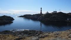 Fedje lighthouse (halifaxlight) Tags: norway hordaland fedje island lighthouse buildings coast channel rocks sea sunny clouds