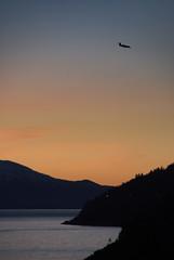 Kveldslanding -|- Evening landing (erlingsi) Tags: airplane volda landing fly sunset solnedgang noreg sky