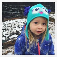 Now With Norah (matthewkaz) Tags: norah daughter child toddler hat owl spring winter snow home house burcham eastlansing michigan 2018