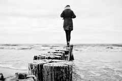 (Jens Steidtner) Tags: bw monochrome blackandwhite people travel outdoors water beach sea coast zingst ostsee balticsea germany fujifilm x100t