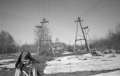 Scan-180415-0004 (Oleg Green (lost)) Tags: expired 200 kodakacademy spring april snow bw film 35mm province russia voigtlander bessat cskopar 4025mm wideangle rodinal