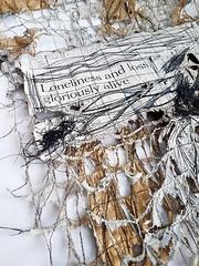 Work in progress (Ines Seidel) Tags: newspaper news texture stitching machinestitching thread yarn sewing paper zeitung wip workinprogress nachrichten zeitungspapier muster