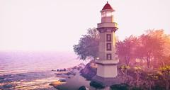 San Borondón (NatG loving the light) Tags: serenitystyle illuminate littlebranch sea lighthouse fameshed sense event secondlife virtual coast 3d