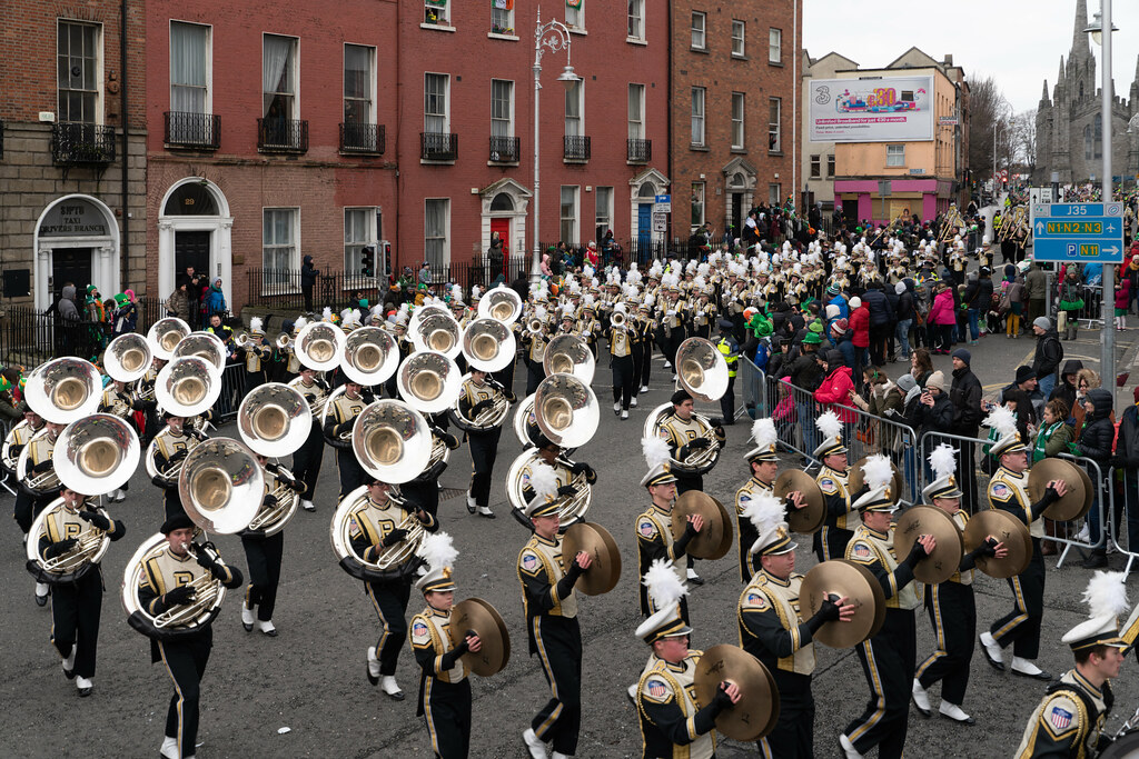 PURDUE ALL AMERICAN MARCHING BAND [DUBLIN PARADE 17 MARCH 2018]-137687