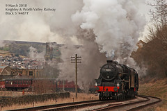 Keighley & Worth Valley Railway - Spring Steam gala - 9 March2018 (Keith Nunns Wakefield) Tags: keighleyandworthvalleyrailway keighleyworthvalleyrailway steamtrain black5 lmsblack5