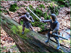 ARAGORN'S DUEL (MOOOVIEMAN) Tags: lord rings aragorn ork toybiz toy duel adventure frodo sam fellowship fight