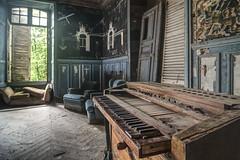 Lost piano (ForgottenMelodies) Tags: france abandoned abandonné castle château decay derelict exploration forgotten k3 lost oublié pentax urbex forgottenmelodies nicolasauvinet