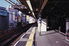 Departure (OzGFK) Tags: asia japan honshu shimbashi trainstation japanrail jr eki fujisuperia800 fujisuperia superia800 film analog 35mm nikon nikkor departure waiting trainplatform publictransport urban tokyo