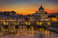 Amazing Roma (george papapostolou) Tags: roma rome italy italia travel san pietro tiber river sunset nikon nikond850 architecture