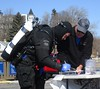 The sign-in (chemsuiter) Tags: diver drysuit doubles dui marina