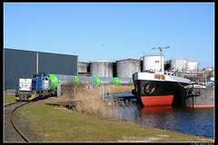 RTB-V155+ketels_Awhvw_19032018-2 (Dennis Koster) Tags: rtb g1206 nwb ketelwagens keteltrein goederentrein trein amsterdamwesthavenwest v155