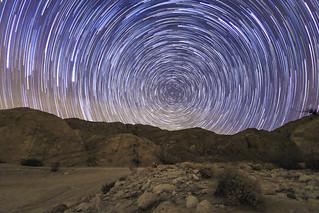Star Trails Above Split Mountain In the Anza-Borrego Desert