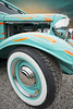 Ford #1 (madmtbmax) Tags: ford streetrod hotrod oldtimer 1930s vintageuscar hobby usa american flames teal turquoise orange dawn hubcap chrome shiny shining headlights nikon d700 voigtländer wide angle luminar 2018 luminarstreetsubway