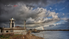 (154/18) El arco iris (Pablo Arias) Tags: pabloarias photoshop photomatix capturenxd españa cielo nubes arquitectura faro arcoiris safarola ciudadela menorca
