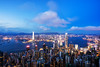 View of Hong Kong City skyline at dusk. View from The peak Hongkong. (MongkolChuewong) Tags: 100 aerial architecture asia asian background beautiful blue building buildings business china city cityscape day district downtown evening harbor harbour hong hongkong kong landmark landscape light metropolis modern mountain night office panorama panoramic peak peaks reflection scene sea sky skyline skyscraper sunrise sunset tourism travel traveler urban victoria view