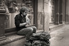 Sidewalk Musician  _4072 (hkoons) Tags: bayofbiscay westerneurope atlantic basque bilbao biscay europe european iberia spain spanish asking audience coast coastal entertain entertainment fish hope instrument music musician ocean panhandle playing port sea