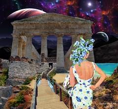 Watching the Ruins - By SilviAne Moon. (Silviane Moon) Tags: arte digitalart digitalcollage digitalpainting photomanipulation planetas surreal planets planetspace space futuristic watching ruins surrealart surrealism surrealismo surrealistic surrealfantasy art silvianemoon silvianemoonart