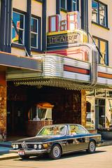 D&R Theatre (Thomas Hawk) Tags: aberdeen america bmw bmw30cs bmwe9 drtheatre e9 scottjordan usa unitedstates unitedstatesofamerica washington washingtonstate auto automobile car classiccar neon theater us fav10 fav25 fav50 fav100