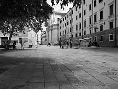Places of everyday life (Franco & Lia) Tags: street fotografiadistrada photographiederue venezia venice veneto biancoenero noiretblanc blackwhite campodeigesuiti blackdiamond
