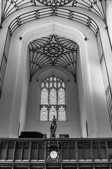 Church of St John the Evangelist (2) (louys:) Tags: churchofstjohntheevangelist fuji xe3 xf27mmf28 church interior bw monochrome wideangle primelens monotone blackandwhite sculpture publicart