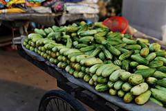 (Benaami) Tags: nikond610 nikon nikkor nikon50mm14 nikon50mmf14afd 50mm 50mm14 50mm14afd nikkor50mm14 nikkor50mm14afd nikkor50mmf14 street photography streetphotography india cucumber fruit green cart vendor red road vegetable d610