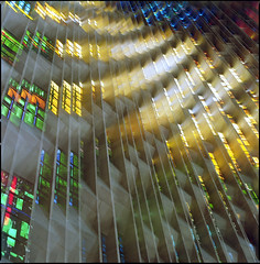 Coventry Cathedral (steve-jack) Tags: hasselblad 501cm 80mm cb lomo colour 100 multiple exposure film 120 6x6 stained glass window coventry cathedral tetenal c41 kit epson v500
