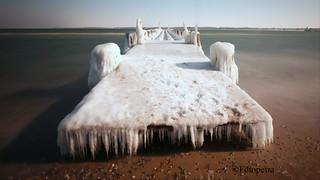 Ein Bett aus Eis