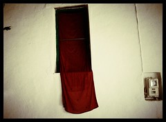 The Details : Rapunzel (Storyteller.....) Tags: details rapunzel window curtain red hanging outiside white