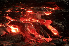 Lava Flow at Kilauea (steveboer.com) Tags: lava kilauea hawaii eruption volcano volcanic fire flame hot heat geologicalphenomenon nature outdoors darkness red burn ash danger dark night glow glowing magma