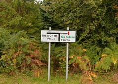 To the Top of the World.. (Harleynik Rides Again.) Tags: topoftheworld isleofraasay itsasign road sign scotland harleynikridesagain northpole