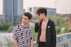 Brothers (Michael Xyrie) Tags: boys teens teenagers urban city downtown portrait people spiring grain vintage indie topside rooftop roof bokeh infrastructure outfit modern outside outdoor