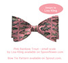 Pink Rainbow trout Bowtie (Isleofhope) Tags: rainbowtrout trout fish fabric fabricdesign bowtie textile textiledesign surfacedesign originalart pink flyfishing fisherman fisherwoman sportfishing preppy southernlife menwear haberdashery bespoke