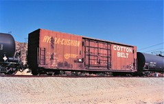 Cotton Belt boxcar at Cajon Summit in 1993 (Tangled Bank) Tags: train railroad railway rolling stock cars equipment freight old classic heritage vintage fallen flag ssw cajon pass summit california
