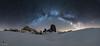 Embrace the Infinite (Edoardo Brotto) Tags: dolomites edoardobrotto snow mountain peak milkyway stars night starrynight starscape panoramic panorama cinquetorri vialattea stellata montagna dolomiti
