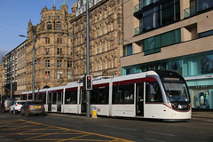 274, Princes Street, Edinburgh, April 5th 2017 (Southsea_Matt) Tags: 274 transportforedinburgh edinburghtrams caf urbos3 princesstreet edinburgh lothian scotland canon 60d sigma 1850mm april 2017 spring railway railroad rail tram metro lightrail passengertravel publictransport