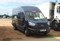 Nearly new Transit. (steve vallance coach and bus) Tags: mxy699 fordtransit osea deryneia