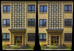 Reichenbach, Solbrigstraße 3-D / CrossEye / Stereoscopy / HDR / Raw (Stereotron) Tags: saxony sachsen reichenbach vogtland architecture modern gdr ddr crosseye crosseyed crossview xview cross eye pair freeview sidebyside sbs kreuzblick 3d 3dphoto 3dstereo 3rddimension spatial stereo stereo3d stereophoto stereophotography stereoscopic stereoscopy stereotron threedimensional stereoview stereophotomaker stereophotograph 3dpicture 3dglasses 3dimage twin canon eos 550d yongnuo radio transmitter remote control synchron kitlens 1855mm tonemapping hdr hdri raw