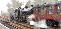 SEVERN VALLEY SPRING GALA (chris .p) Tags: nikon d610 view svr worcestershire england snow march 2018 bewdley severnvalleyrailway spring cold steam