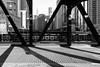 Wells (Andy Marfia) Tags: chicago loop bridge chicagoriver steel beams shadow d7100 1685mm 1160sec f8 iso100 blackwhite