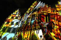 Römer im Licht (JB Fotofan) Tags: luminale2018 luminale frankfurt lightart lichtkunst lights licht lumixfz1000 bunt colorful römer