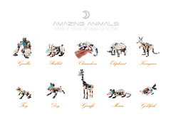Amazing Animals: Creator Set 31034 AMOCs (dvdliu) Tags: 31034 lego moc amoc creature animal nkubate