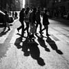 Madison Avenue (John St John Photography) Tags: grandcentralterminal madisonavenue 42ndstreet streetphotography candidphotography vanderbiltavenue lexingtonavenue group men shadows silhouette bw blackandwhite blackwhite blackwhitephotos johnstjohn
