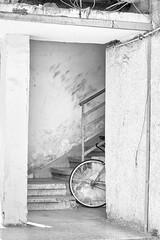 Bicycle in Doorway (aaronbrethorst) Tags: bicycle blackandwhite doorway israel telaviv