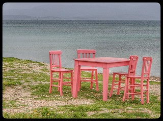 Lone table.